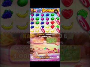 סוכריות BONANZA Düşük Kasa İle Yüksek Kazanc BigWin İzle Göz #sweetbonanza # slot #bigwin