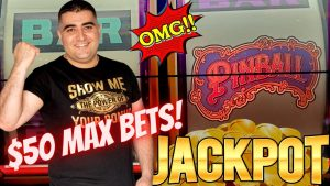✦2 HANDPAY JACKPOTS✦ On High bound Pinball Slot Machine ! $50 Max Bet Top Dollar Slot BONUSES WON