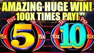 100X TIMES PAY!! AMAZING HUGE WIN! 🤑 3-REEL 5X 10X TIMES PAY Slot Machine (BALLY)