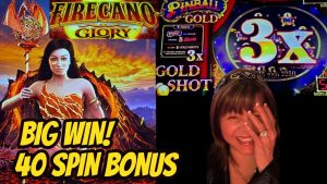 40 SPIN large WIN BONUS! FIRECANO GLORY & PINBALL Au