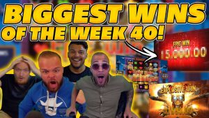 BIGGEST WINS OF THE calendar week 40! INSANE large WINS on Online Slots! TWITCH HIGHLIGHTS!