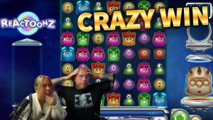 CRAZY WIN!! large Win From Reactoonz – casino bonus Games From MrGambleSlots Live flow