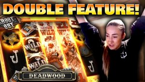 DOUBLE BONUS on Deadwood with a SUPER large WIN!!