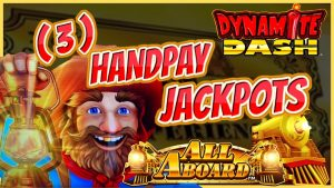 HIGH boundary All Aboard Dynamite Dash 🚂MASSIVE WIN (3) HANDPAY JACKPOTS $50 MAX BET BONUS Slot Machine