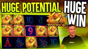 HUGE €5500 WIN WITH WILDLINE POTENTIAL ON GREAT WARRIOR 🎰 large WIN ON GAMOMAT ONLINE SLOT MACHINE