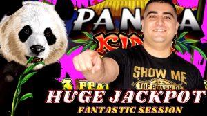 HUGE HANDPAY JACKPOT Panda Rex AINSWORTH Slot Machine | Live High boundary Slot Play inwards Las Vegas