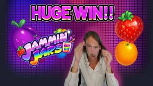 HUGE WIN! JAMMIN JARS large WIN – €6 bet on casino bonus Slot from CasinoDaddys LIVE flow