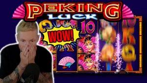 HUGE WIN! PEKING LUCK large WIN – €15 BET on casino bonus Slot from CasinoDaddys LIVE current