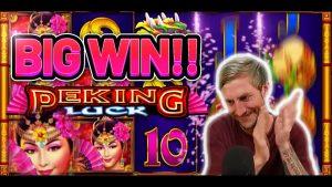 ОГРОМНАЯ ВЫИГРЫША! PEKING LUCK large WIN - ставка 5 евро на бонусный слот казино от CasinoDaddys LIVE current
