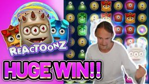 HUGE WIN! REACTOONZ large WIN – casino bonus Slot from CasinoDaddys LIVE flow