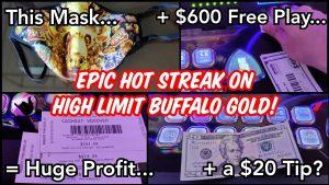 Dobio sam napojnicu od 20 $ na casino bonus! Ogromna pobjeda na slobodnom igranju na High bound Buffalo atomskom broju 79!
