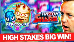 I tried HIGH STAKES Slots in addition to got a large WIN on REACTOONZ in addition to Razor Shark !!! (omg!!!)