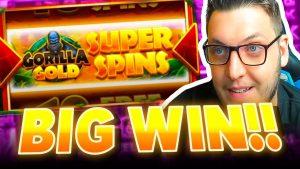 INSANE large WIN on SUPER SPINS Bonus on GORILLA atomic number 79