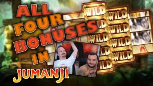 Jumanji slot – All 4 bonuses (non a large win)
