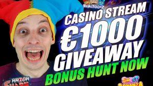 LIVE casino bonus flow – BONUS HUNT, large WINS – !GS inwards chat – novel casino bonus
