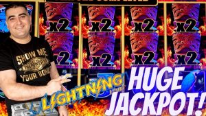 Lightning Link TIKI flaming Slot Machine HUGE HANDPAY JACKPOT |Live Slot Play inward Las Vegas At The Cosmo