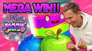 MEGA WIN! JAMMIN JARS large WIN – €4 bet on casino bonus Slot from CASINODADDY
