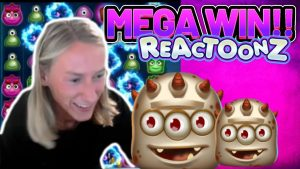 MEGA WIN! REACTOONZ large WIN – €5 bet on casino bonus Slot from CasinoDaddy