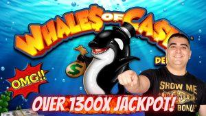 Over 1300X JACKPOT On Whales Of Cash Deluxe Slot Machine – Massive Sloe Win-Live Slot Play At casino bonus