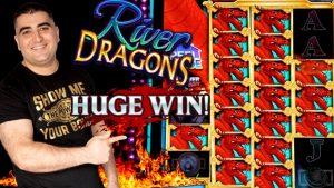 River Dragons Slot Machine $8.80 Max Bet Bonus – MASSIVE WIN |リバードラゴンズスロットマシン$ XNUMX最大ベットボーナス–大勝利| Live Slot Play At casino bonus & large turn a profitカジノボーナスでのライブスロットプレイと大きなターンで利益