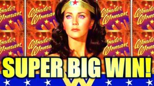 SHE MAGICALLY APPEARED!! 😍 SUPER large WIN!! $5.00 MAX BET! WONDER adult woman WILD Slot Machine (SG)