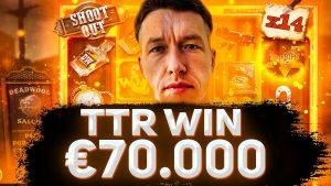 TTR OGROMNI ZMAGA 75 660 €. Velik bonus za WIN vstopnice