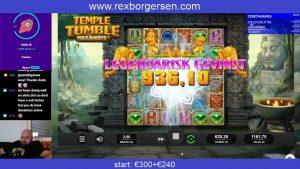 Temple Tumble Megaways - grote overwinning
