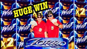 ZORRO WILD RIDE SLOT★novel! HUGE WIN💰MAX BET BONUS WITH RETRIGGER!★LAS VEGAS babe!