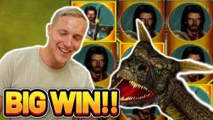 WIN גדול! DRAGONS TREASURE win גדול - הימור של 5 € על חריץ בונוס לקזינו מבית CasinoDaddy