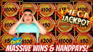 novel HIGH boundary Dragon CASH Slot HUGE HANDPAY JACKPOTS | High boundary Live Slot Play inward Las Vegas COSMO
