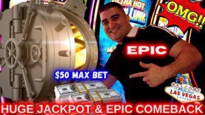 2 HANDPAY JACKPOTS & MASSIVE COMEBACK – $50 MAX BET ! 💥High bound Slot Machine JACKPOTS inward Las Vegas