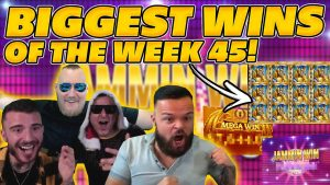 BIGGEST WINS OF THE calendar week 45! INSANE large WINS on Online Slots! TWITCH HIGHLIGHTS!