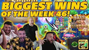 BIGGEST WINS OF THE calendar week 46! INSANE large WINS on Online Slots! TWITCH HIGHLIGHTS!