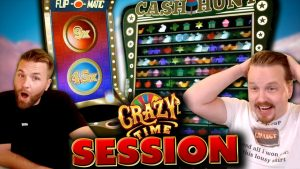 Crazy Time Session with large WINS!
