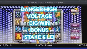DANGER HIGH VOLTAGE BONUS large WIN