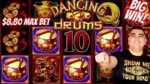 Drums taż-Żfin Slot Machine Max Bet Bonus & WIN kbir | Plat Slott Live Fuq bonus tal - każinò | Magna Slott kbira Win