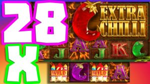 EXTRA CHILLI 🌶️  SLOT MEGA large WIN INSANE SESSION THIS GAME IS ON flame 🔥upwards TO 28X MULTIPLIER‼️😱‼️
