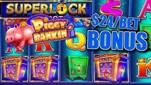 HIGH bound SUPERLOCK Lock It Link Piggy Bankin' 🔒$24 BONUS circular Slot Machine casino bonus