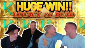 VITÓRIA ENORME !!! LEGACY OF DEAD grande WIN - aposta de € 10 na slot de bônus do casino do fluxo do CasinoDaddys