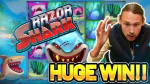 HUGE WIN! RAZOR SHARK large WIN – €5 bet casino bonus Slot from CASINODADDY