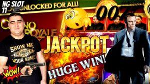 Hranice jackpotu automatu JAMES BOND na výherní automat   Jackpot vysoké hranice automatu dovnitř Las Vegas
