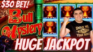 높은 경계 코나미 슬롯 머신 HUGE HANDPAY JACKPOT | Bull Mystery Slot Machine 라지 JACKPOT