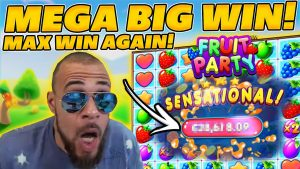 INSANE MAXWIN on FRUIT political party! NANDO DID IT ane time to a greater extent than! SUPER large WIN on Online Slots