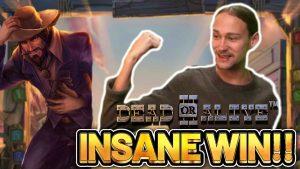 INSANE WIN!!! DEAD OR live 2 large WIN – €4,5 bet on casino bonus slot from CasinoDaddys flow