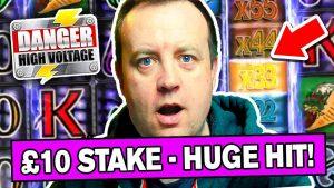 MEGA large WIN on £10 HIGH STAKE on DANGER HIGH VOLTAGE