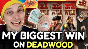 MY BIGGEST WIN ON DEADWOOD SLOT! WITHOUT BONUS purchase!