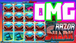 RAZOR SHARK🦈 SLOT BONUS HUNT large WINS😱OMG IS THAT ALMOST A total cover🔥 OF WILDS upwards TO €5 BET‼️