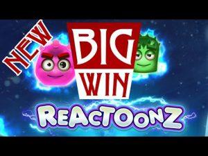 REACTOONZ – MASSIVE WIN. BET 5 € | Best large wins of the calendar week casino bonus