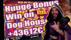 Roshtein Huuge Bonus Win on Canis familiaris House 43612€ – Online casino bonus large Win inwards Slots