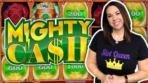 SLOT QUEEN tackles MIGHTY CASH for the large WIN !!